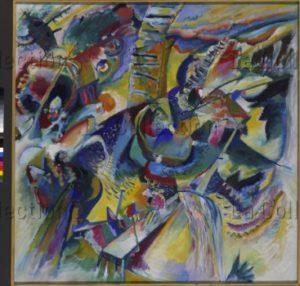 Kandinsky, Vassily. Improvisation Klamm. 1914. Peinture. Munich. Städtische Galerie im Lenbachhaus.