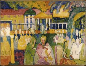 Kandinsky, Vassily. Reifröcke (Crinolines). 1909. Peinture. Moscou, Galerie Tratiakov.