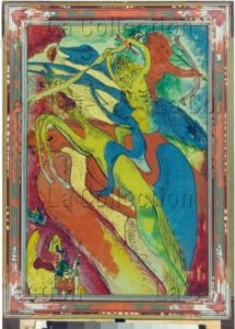 Kandinsky, Vassily. Apokalyptische Reiter I. 1911. Munich, Städtische Galerie im Lenbachhaus.