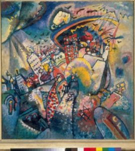 Kandinsky, Vassily. Moscou I, dit aussi La place Rouge à Moscou. 1916. Peinture. Moscou. Galerie Tretiakov.