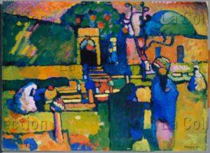 Kandinsky, Vassily. Cimetière arabe. 1909. Peinture. Hambourg. Kunsthalle.