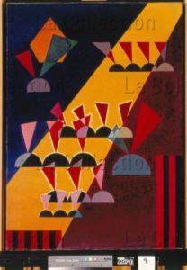 Kandinsky, Vassily. Thema : Spitz (Thème : pointe). 1927. Peinture. Collection particulière.