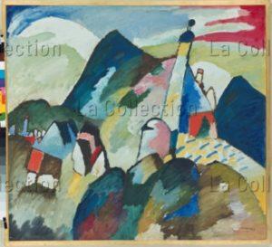 Kandinsky, Vassily. Eglise à Murnau. 1910. Peinture. Eindhoven, Van Abbe Museum.