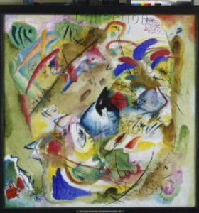 Kandinsky, Vassily. Träumerische Improvisation (Improvisation rêveuse). 1913. Peinture. Munich. Pinakothek der Moderne.