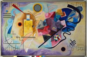 Kandinsky, Vassily. Jaune, rouge et bleu. 1925. Peinture. Paris. Musée national d'Art moderne.