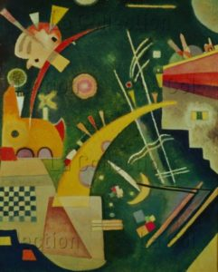 Kandinsky, Vassily. Hornform (Forme de trompe). 1924. Peinture. Berlin. Neue Nationalgalerie.