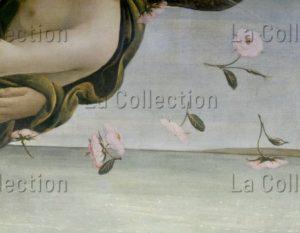 Botticelli, Sandro. La naissance de Vénus. Détail : fleurs. Vers 1484. Peinture. Florence. Musée des Offices.