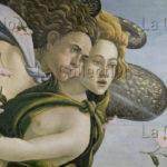 Botticelli, Sandro. La naissance de Vénus. Détail : Zéphyr. Vers 1484. Peinture. Florence. Musée des Offices.