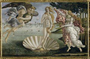 Botticelli, Sandro. La naissance de Vénus. Vers 1484. Peinture. Florence. Musée des Offices.