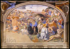 Florence. Palazzo Vecchio. Chapelle d'Eléonore de Tolède. Bronzino. Le Passage de la mer Rouge et l'investiture de Josué. 1540 1545. Peinture murale. Florence. Palazzo Vecchio.