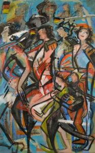 Montéran, Nicole. Run auf den Osten (La ruée vers l'Est). 1990. Peinture. Collection particulière.