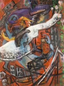 Montéran, Nicole. Berliner Zeitung. 1990 1992. Peinture. Collection particulière.