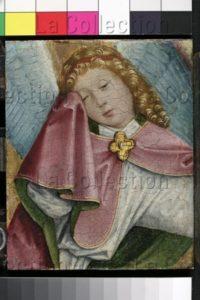 Maître de Liesborn. Ange pleurant. Vers 1465. Peinture. Münster. Westfälisches Landesmuseum.