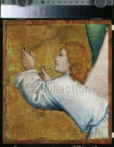 Maître de Liesborn. Retable de Liesborn. Un Ange blond (fragment). Vers 1465. Peinture. Münster. Westfälisches Landesmuseum.
