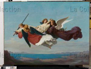 Mücke, Heinrich. Le transport du corps de sainte Catherine sur le mont Sinaï. 1836. Peinture. Düsseldorf, Museum Kunstpalast.