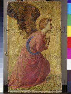 Fra Angelico. L'Ange de l'Annonciation. XVe siècle. Peinture. Munich, Alte Pinakothek.