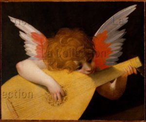 Rosso Fiorentino. Ange musicien. 1522. Peinture. Florence. Musée des Offices.