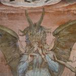 Florence. Eglise Sta Maria del Fiore. Coupole. Vasari, Giorgio. Le Jugement Dernier. Détail : l'enfer. 1572 1579. Peinture murale.