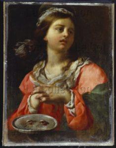 Coccapani, Sigismondo. Sainte Lucie. XVIIe siècle. Peinture. Collection particulière.