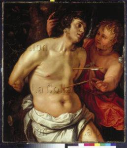 Goltzius, Hendrick. Saint Sébastien. 1615. Peinture. Münster, Westfälisches Landesmuseum.