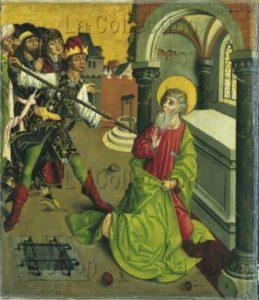 Maître de l'Epitaphe Winkler. Le martyre de saint Thomas. Vers 1480 1490. Peinture. Francfort/Main, Städel Museum.
