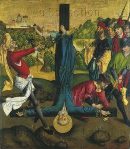 Maître de l'Epitaphe Winkler. Le martyre de saint Pierre. Vers 1480 1490. Peinture. Francfort/Main, Städel Museum.