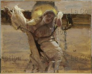 Keller, Albert von. La martyre. Avant 1892. Peinture. Francfort/Main, Städel Museum.