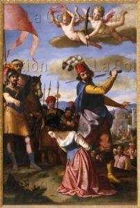 Chimenti, Jacopo, dit Jacopo da Empoli. Le Martyre de sainte Barbe. 1603. Peinture. Florence. Musée des Offices.