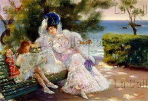 Villegas y cordero, José. Un après midi à la mer. 1906. Peinture. Collection particulière.