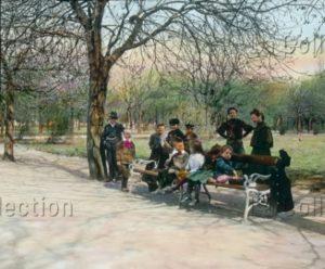 Autriche. Vienne. Prater. Enfants jouant. Vers 1905. Photographie. Vienne, Österreichisches Volkshochschularchiv.