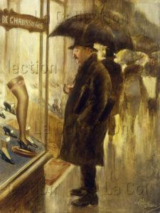 Guillaume, Albert. La vitrine. Début XXe siècle. Peinture. Collection particulière.