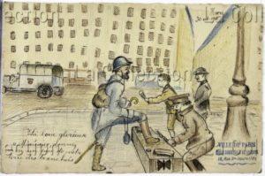 France. IIIe République. Première Guerre mondiale. La boue glorieuse. 1916. Dessin. Paris, Musée de Montmartre.