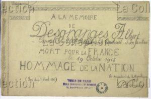France. IIIe République. Première Guerre mondiale. Soldat Desgranges. 1915. Dessin. Paris, Musée de Montmartre.