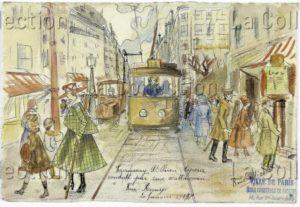 France. IIIe République. Première Guerre mondiale. Le Travail des femmes. 1917. Dessin. Paris, Musée de Montmartre.