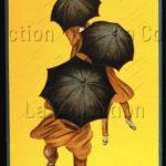 """Capiello, Leonetto. Affiche publicitaire """"Parapluie Revel"""". Vers 1922. Collection particulière."""
