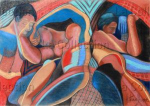 Hayet Aoudjhane. Mouvements. 2006. Dessin. Collection particulière.