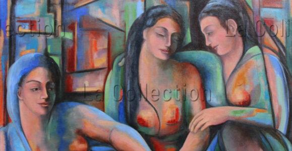 Hayet Aoudjhane. Conservation. 2013. Peinture. Collection particulière.