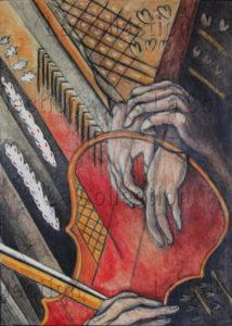 Hayet Aoudjhane. Valse hongroise. 2014. Peinture. Collection particulière.