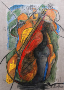 Hayet Aoudjhane. Nocturne. 2014. Peinture. Collection particulière.