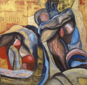 Hayet Aoudjhane. Entre-deux. 2007. Peinture. Collection particulière.