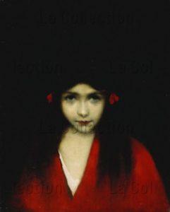 Jean-Jacques Henner. Portrait d'une jeune fille. Fin XIXe-début XXe siècle. Peinture. Collection particulière.