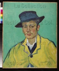 Vincent van Gogh. Portrait d'Armand Roulin à 17 Ans. 1888. Peinture. Essen, Museum Folkwang.