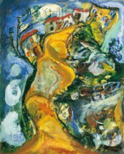 Chaïm Soutine. La route folle à Cagnes (La Gaude). 1923. Peinture. Collection particulière.