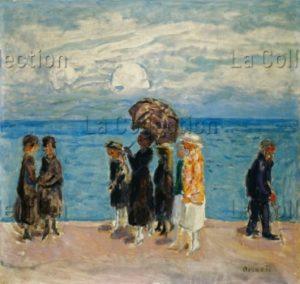 Pierre Bonnard. Promeneurs au bord de la mer. 1916. Peinture. Collection particulière.