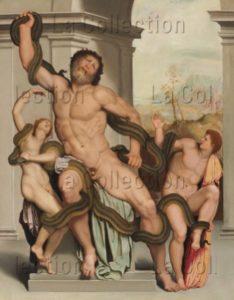 Alessandro Allori. Laocoon et ses fils étouffés par deux serpents. XVIe siècle. Peinture. Collection particulière.