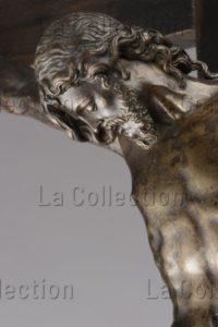 Jean Boulogne. Crucifix. Détail : buste du Christ. Avant 1588. Sculpture. Francfort/Main, Liebieghaus Skulpturensammlung.