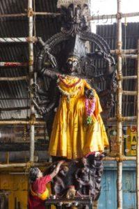 Art indien. Période Nâyak. Madurai. Temple de Minâkshî. XVIIe siècle. Sculpture.