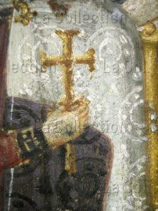 Art byzantin. Vierge à l'Enfant entre saint Théodore et saint Georges. Détail. VIe siècle. Peinture. Mont Sinaï, Monastère Sainte-Catherine.