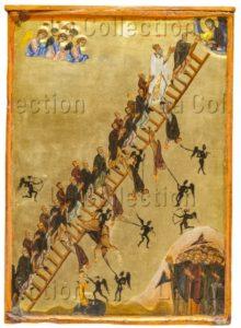 Art byzantin. L'échelle spirituelle de saint Jean Climaque. XIIe siècle. Peinture. Mont Sinaï, Monastère Sainte-Catherine.