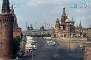 Russie. Moscou. La Place Rouge Et La Cathédrale St Basile Le Bienheureux. 1964. Photographie. Collection Particulière.